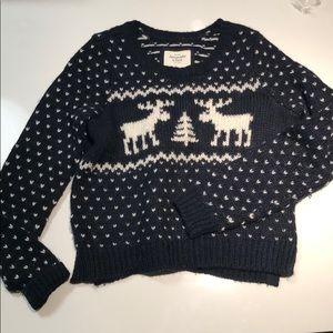 Abercrombie moose Christmas sweater